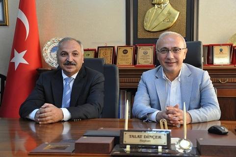 Başkan Dinçer'den Maliye Bakanlığına atanan Elvan'a kutlama