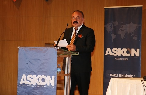 Hasan Arslan Güven Tazeledi Yeniden Mersin Askon Şube Başkanı oldu
