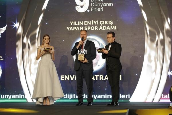 Katrancı'ya önemli ödül yılın spor adamı ödülü Enver Katrancı'nın