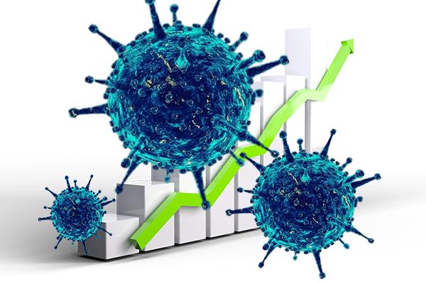 Koronavirüs salgınında vaka sayısı düne göre arttı