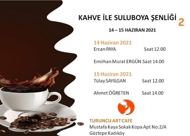 Suluboya sanatçıları kahve ile resim yapacak…