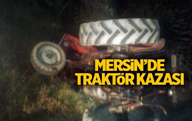 Traktör Devrildi; Sürücüsü Altında Kaldı